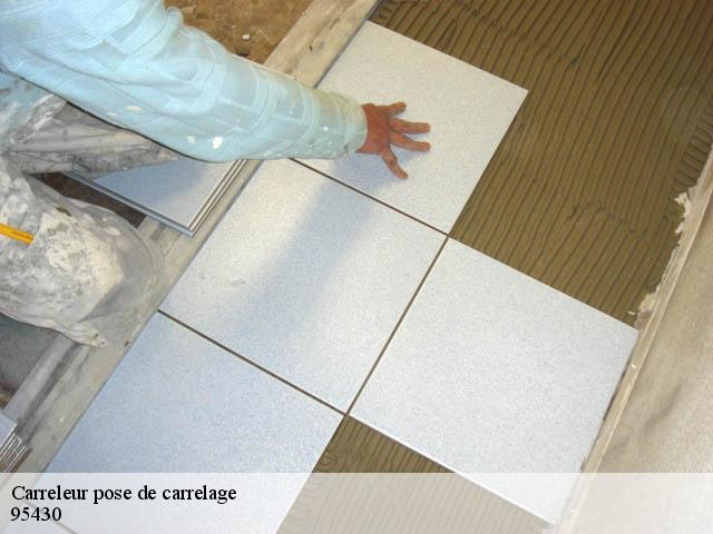 Pose de carrelage  95430