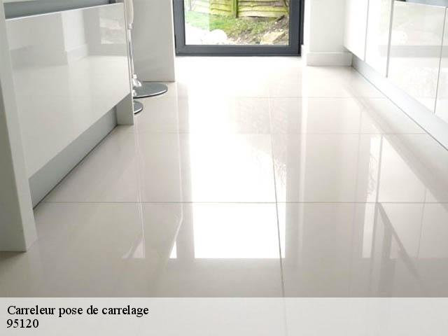 Carreleur pose de carrelage  95120